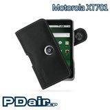 Motorola XT701 專用PDair高質感腰掛橫式PDA手機皮套