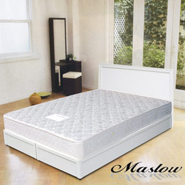 【Maslow-純白主義】雙人床組-5尺(不含床墊)