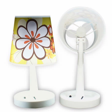 USB 二合一檯燈風扇+小夜燈功能(黃)