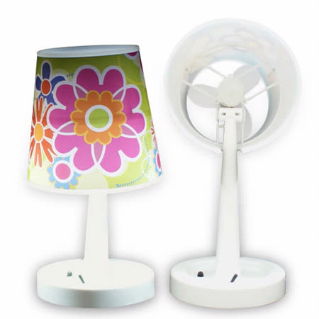 USB 二合一檯燈風扇+小夜燈功能(綠)