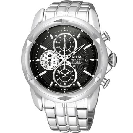 ALBA FLAGSHIP 格鬥天王計時腕錶(YM92-X189D)-黑面