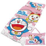 【享夢城堡】哆啦A夢 天空漫遊系列-舖棉兩用兒童睡袋(粉)