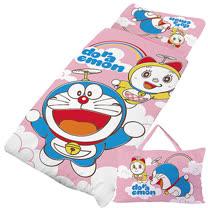 【享夢城堡】精梳棉舖棉冬夏兩用5X5兒童睡袋-哆啦A夢 天空漫遊-粉
