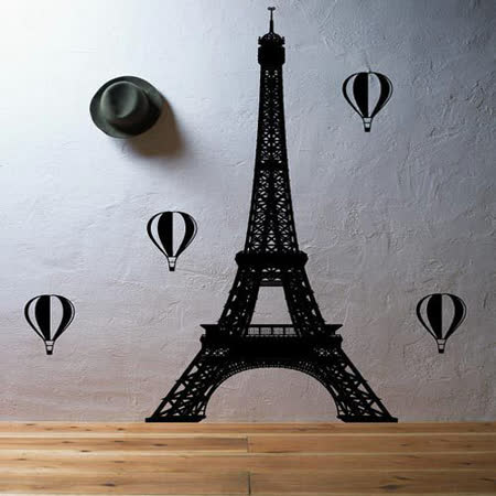【ORIENTAL創意壁貼】Eiffel tower with balloons