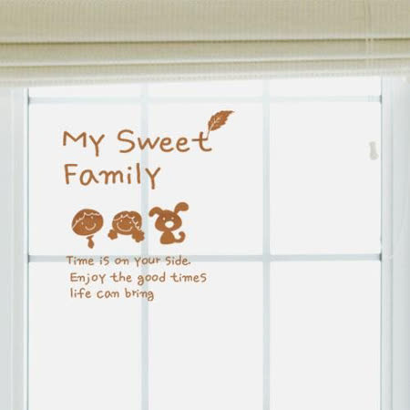 【Design W 壁貼】質優 My sweet family