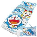 【享夢城堡】哆啦A夢 天空漫遊系列-鋪棉兩用兒童睡袋(藍)