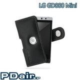 LG GD880 Mini 專用PDair高質感腰掛橫式PDA手機皮套