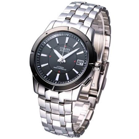 CITIZEN 電波系列光動能鈦金屬腕錶 AS7001-51E