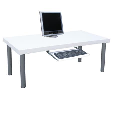 【網購】gohappy線上購物厚型桌面-書桌/電腦桌/和室桌(含鍵盤抽)-素雅白色(台灣製造)評價愛 買 吉安 量販 店