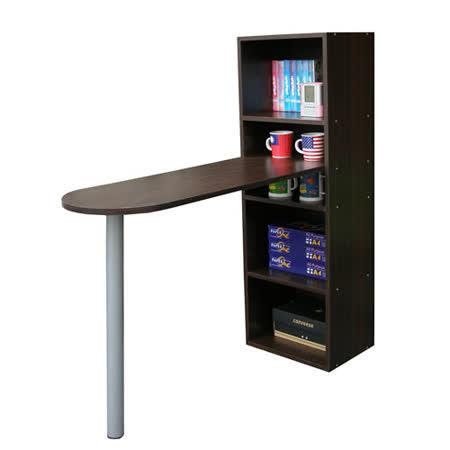 書櫃型-書桌/電腦桌-[桌面]120cm(長)[3+2格](蛋頭形)深胡桃木色 (台灣製造)