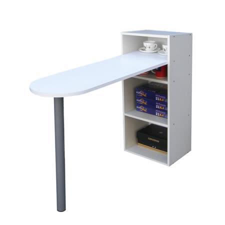 [桌面]75公分(高)120公分(長)[2+2格](蛋頭形)書櫃型-書桌/電腦桌-素雅白色 (台灣製造)
