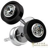 ROYAL DAMON 單純耳環(IP黑)