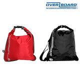 英國OverBoard Dry Flat 超輕薄防水袋 黑色 15L,防水等級3!
