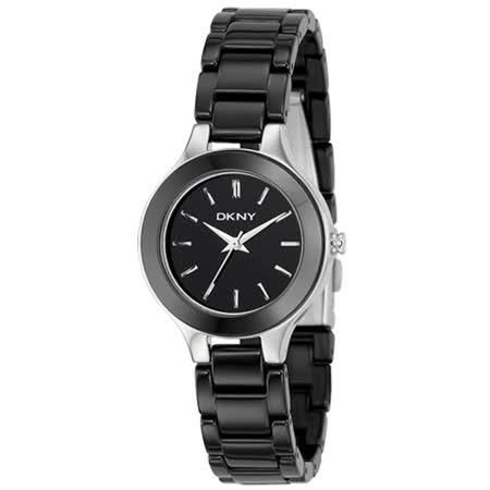 【DKNY】 陶瓷腕錶(黑)
