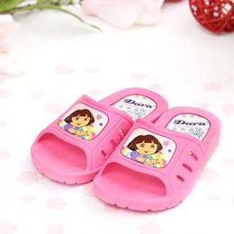 【童鞋城堡】朵拉粉色Dora女童拖鞋{台灣製造}DR1480