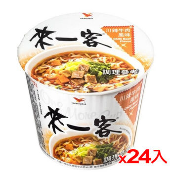 統一來一客杯麵川辣牛肉風味67g *24碗(箱)