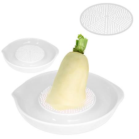 陶瓷蔬果研磨器-50元加購雙耳折疊洗菜籃