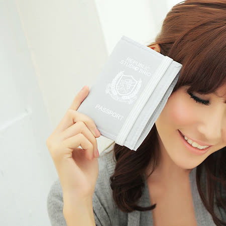【StudioBrio】護照套與筆記本 (灰)