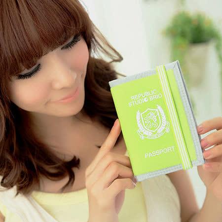 【StudioBrio】護照套與筆記本 (亮綠)