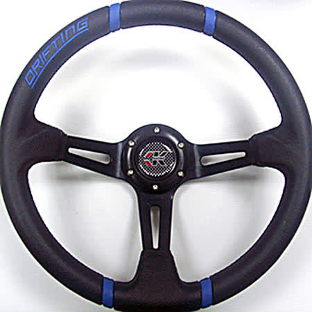ESPER 4125C 大凹黑支架藍 350mm 改裝方向盤