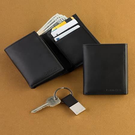 【CK】卡文克萊黑色錢包和鑰匙集