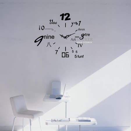Art STICKER璧貼 ● The new number clock