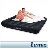 INTEX《舒適型》雙人特大植絨充氣床墊(寬183cm)-有頭枕