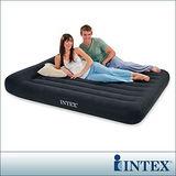 INTEX《舒適型》雙人加大植絨充氣床墊(寬152cm)-有頭枕