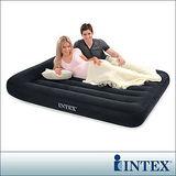 【INTEX】舒適型雙人植絨充氣床墊(寬137cm)-有頭枕設計