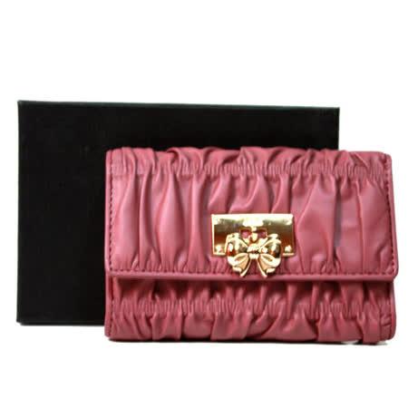 OMC OMNIA COLORARE 時尚抓皺慕斯三折式中夾 粉紫色