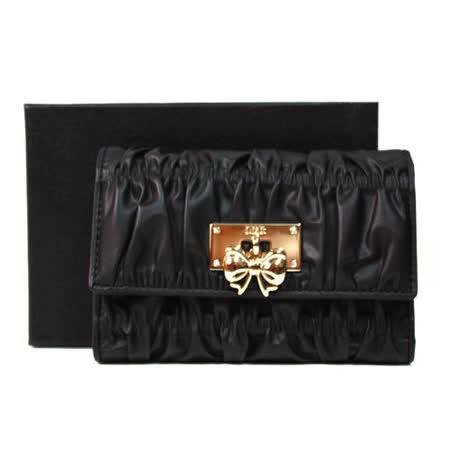 OMC OMNIA COLORARE 時尚抓皺慕斯三折式中夾 黑色