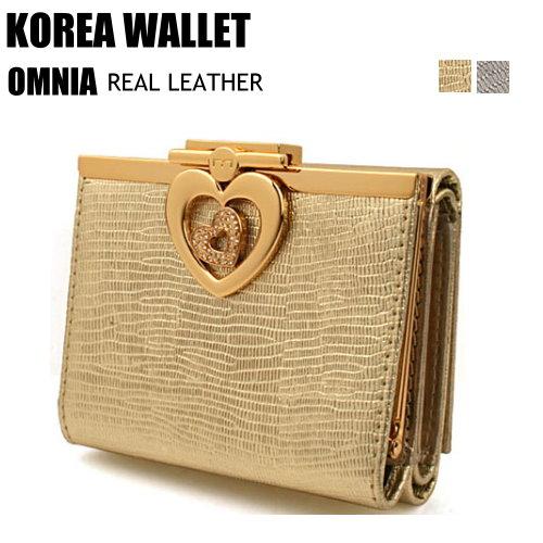 【CHACO韓國】專櫃OMNIA義大利牛皮華麗閃耀14k金屬水鑽短夾包-時尚灰