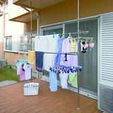 【LIFECODE】頂天立地-魔法空間超大型曬衣架-附送2個襪子架
