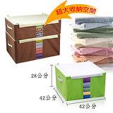 ~日本收納達人推薦~(超值2入)可摺疊衣物收納百寶箱50L(42*42*28CM)