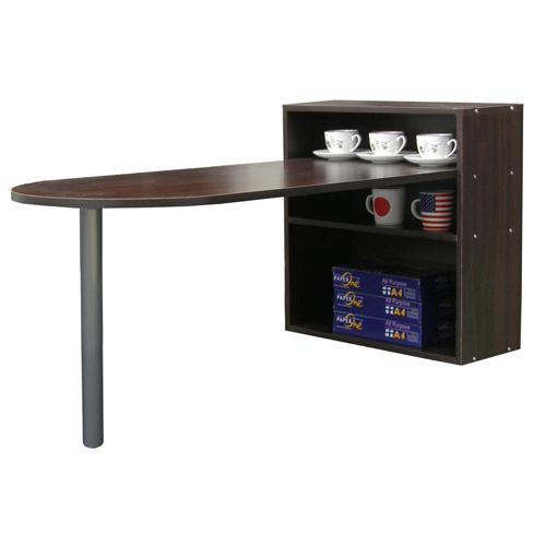 ^(1 2格蛋頭形^)書櫃型書桌~深胡桃木色~^( 製^)