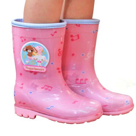 日本焦糖兔童雨鞋