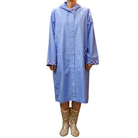 日本素色格紋雨衣