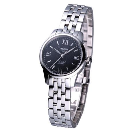 TISSOT 力洛克 女用自動機械腕錶 黑T41118353