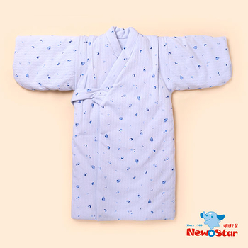 【聖哥-Newstar】MIT推薦人氣幼兒鋪棉和服(加厚+方便黏扣款)貼心設計-暖呼呼藍-粉-0~3歲