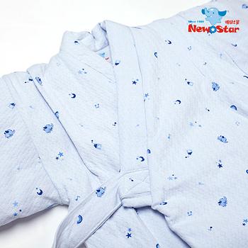 【聖哥-Newstar】MIT100%純棉嬰幼兒保暖防踢睡袍-純棉柔軟-秋冬 夏季冷氣房都OK-0-3歲都適合唷-藍-粉