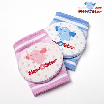 【聖哥-Newstar】MIT寶寶爬護護膝套(膝肘)(軟棉護墊)-藍-粉紅-活動力UP~好用軟Q推薦~