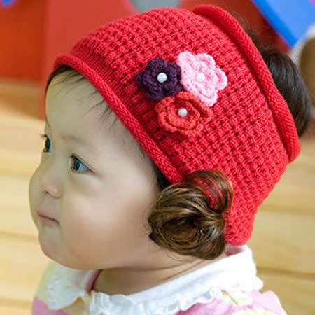 購物車:韓單《立體小花朵-紅色》甜美假髮帶