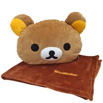【享夢城堡】拉拉熊 12吋頭型抱枕毯被