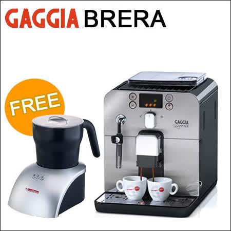 GAGGIA Brera 全自動咖啡機-黑色(HG7248)+贈電動奶泡壺(HG2409)