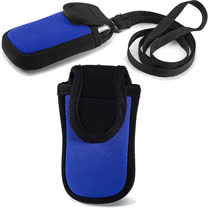 《VOYAGER》掛繩魔鬼氈3C袋(藍)