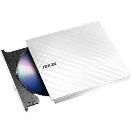 華碩ASUS SDRW-08D2S-U超薄外接DVD燒錄機 晶亮白 -加送光碟機保護套
