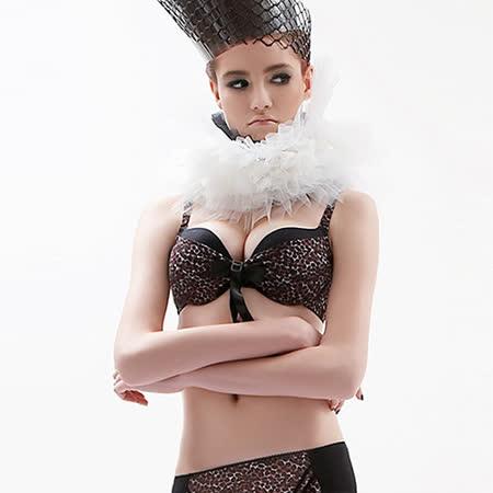【瑪登瑪朵】RA0131 魔豹拉溝II  B-E罩杯內衣(咖啡豹)