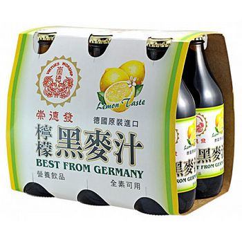 崇德發檸檬黑麥汁330ml*6