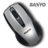 SANYO三洋日系經濟包USB有線光學鼠(科技銀)