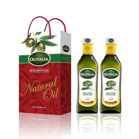 Olitalia奧利塔伯爵純橄欖油禮盒組(500mlx2)